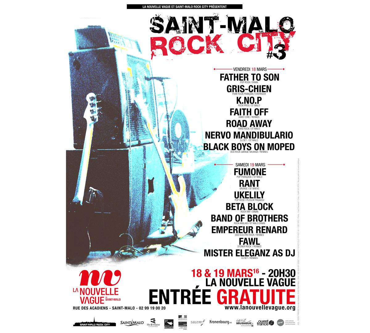 Affiche - Saint-Malo Rock City - 2016