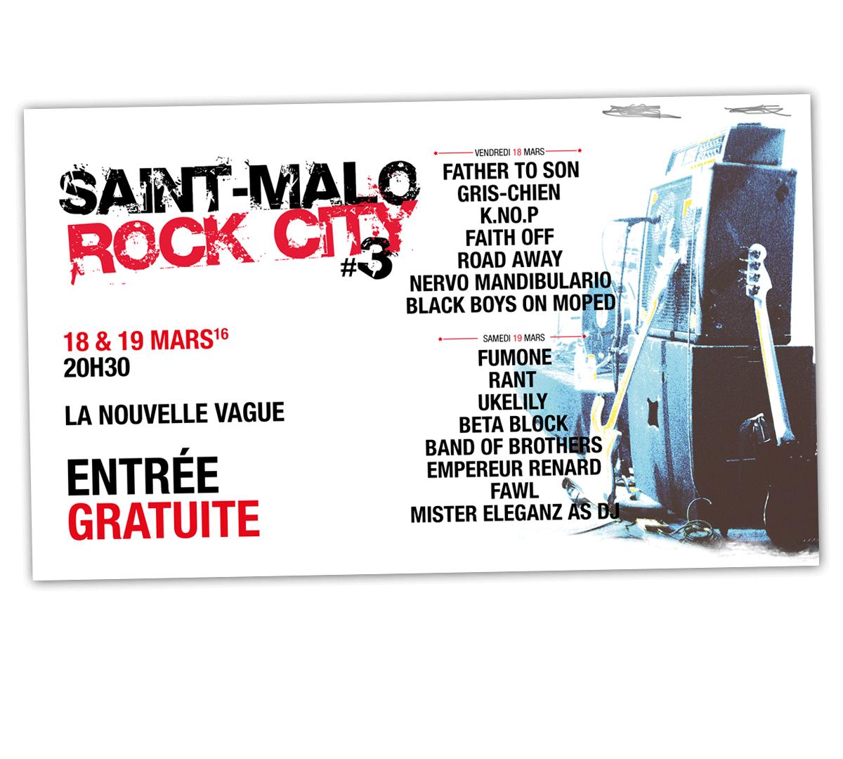 Flyer - Saint-Malo Rock City - 2016