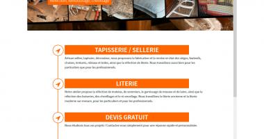 Site Internet Stéphane Jeandot Artisan Tapissier à Cancale - version mobile