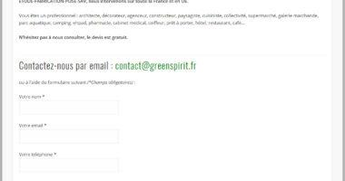 Site Internet Green Spirit
